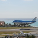 arriving to Saint Martin by plane