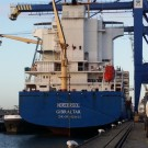 container vessel in the Blue Stream service